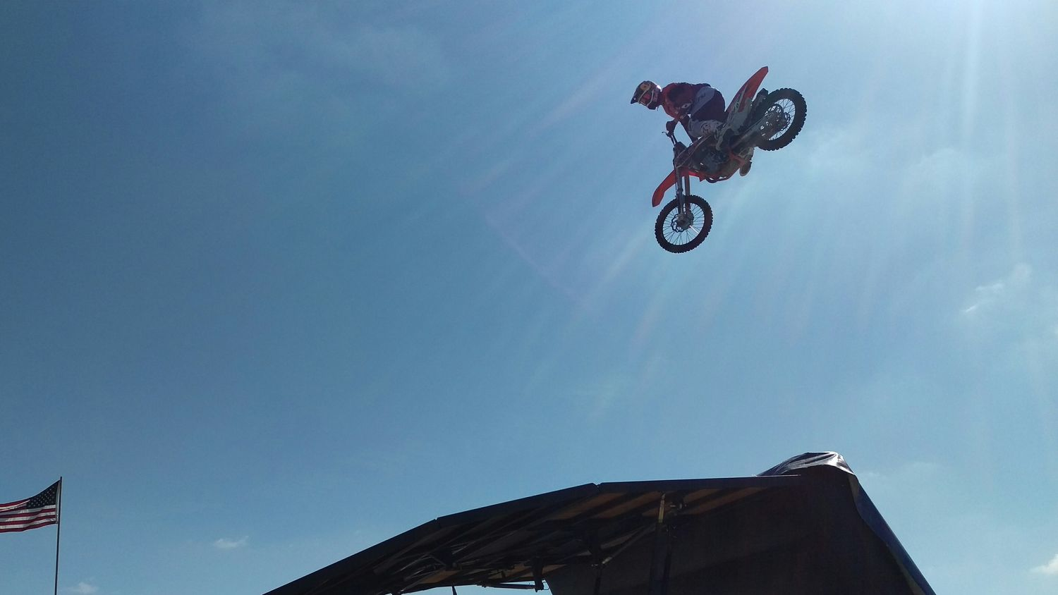 If you can't fly, reach for the sky! Motorcross  Miramar Air Show Motorcycle Dangerous Awesome Jump Fast