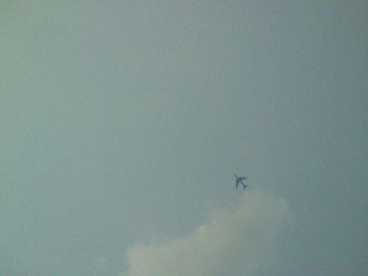 Sky Aeroplane Clouds Departure Blue Sky Blue