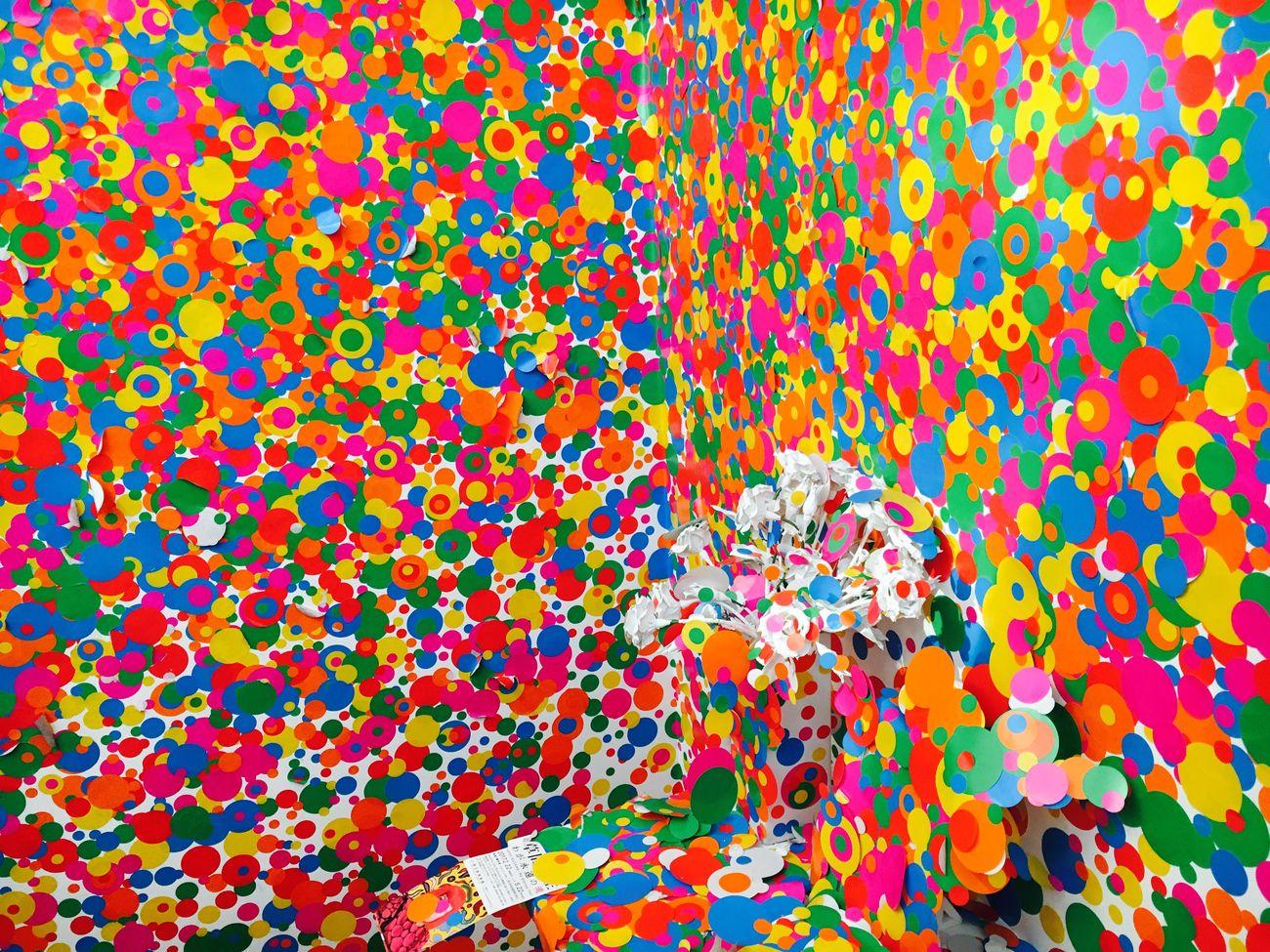 草間彌生 わが永遠の魂 Multi Colored Pattern Abstract Full Frame Yayoi Kusama 草間彌生 Art Eyeemphoto Capture The Moment EyeEm Masterclass EyeEm The Best Shots Focus On Foreground Selective Focus EyeEm Gallery Event Eyeemoninstagram