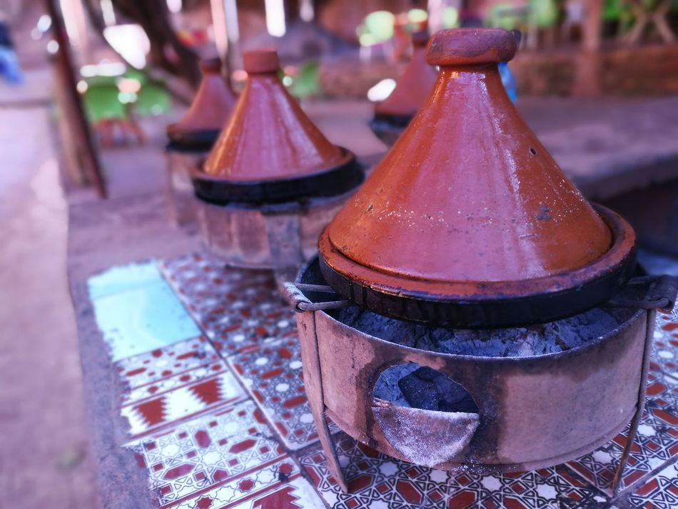 Berber  Coal Cookware Earthenware Food Meat Pot Rustic Stew Tajine Tajine Moroccan Food Typical Vegetables