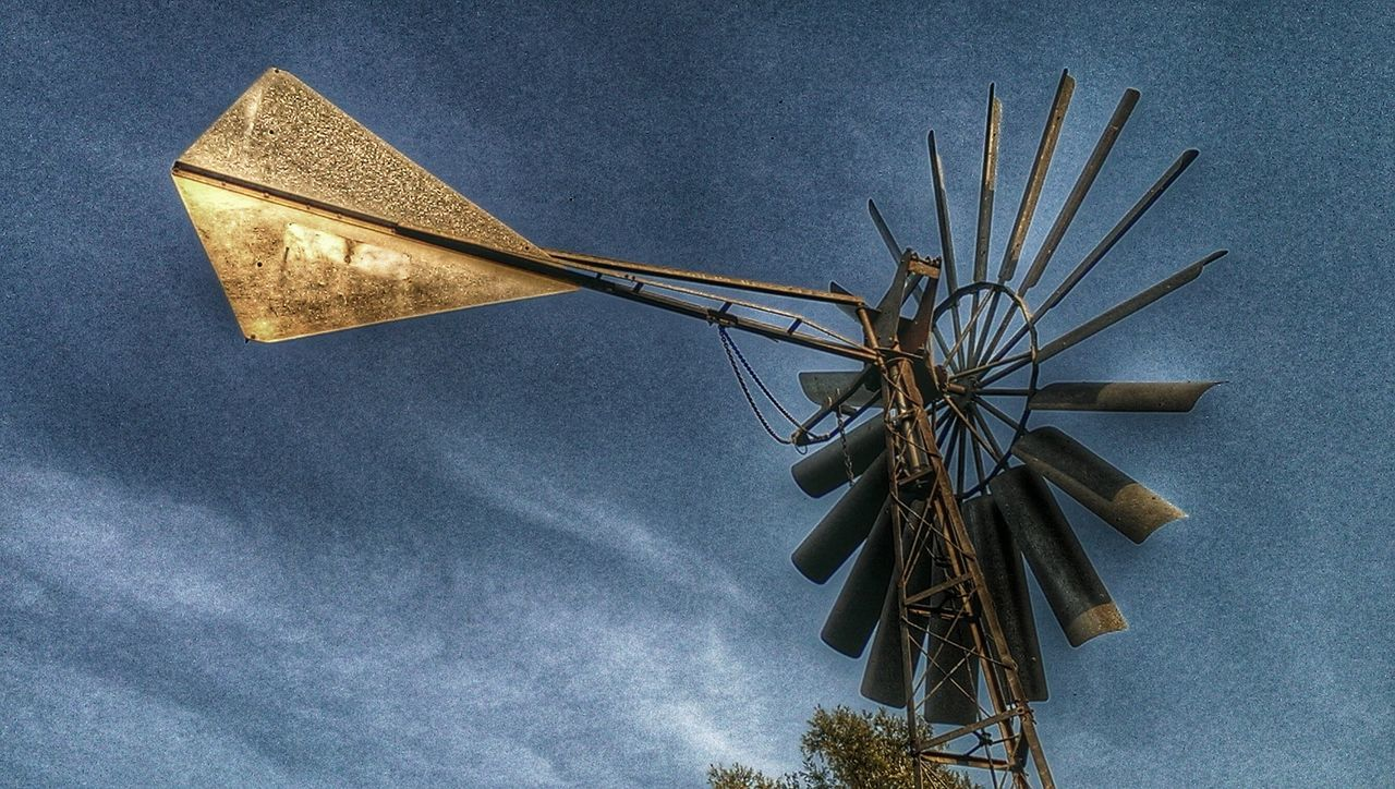 HDR Collection Wind Turbine Blue Sky HDR Collection