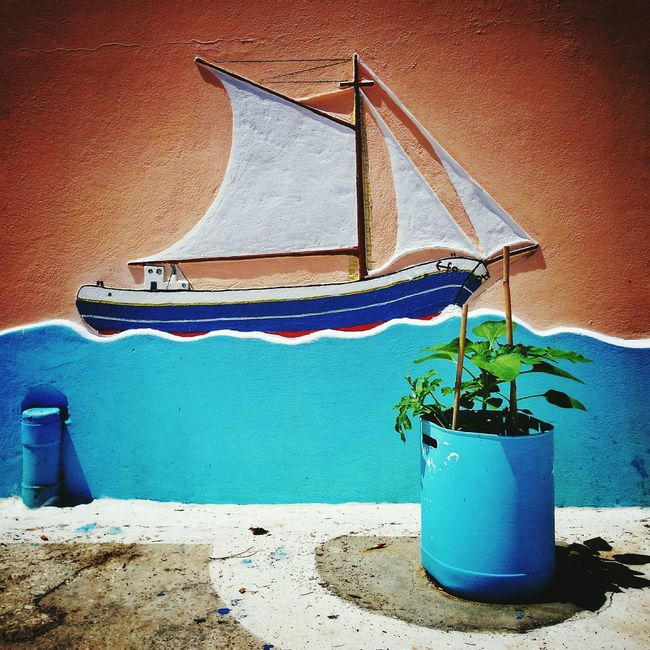 Ship on the wall GREECE ♥♥ Greece EyeEm Best Shots EyeEm Best Edits Karpathos Ship Greece Style Greece Islands Wall Wall Art Wallart Wall Painting Wall Painting/grafitti Wall Decoration Wall Decor Wall Murals