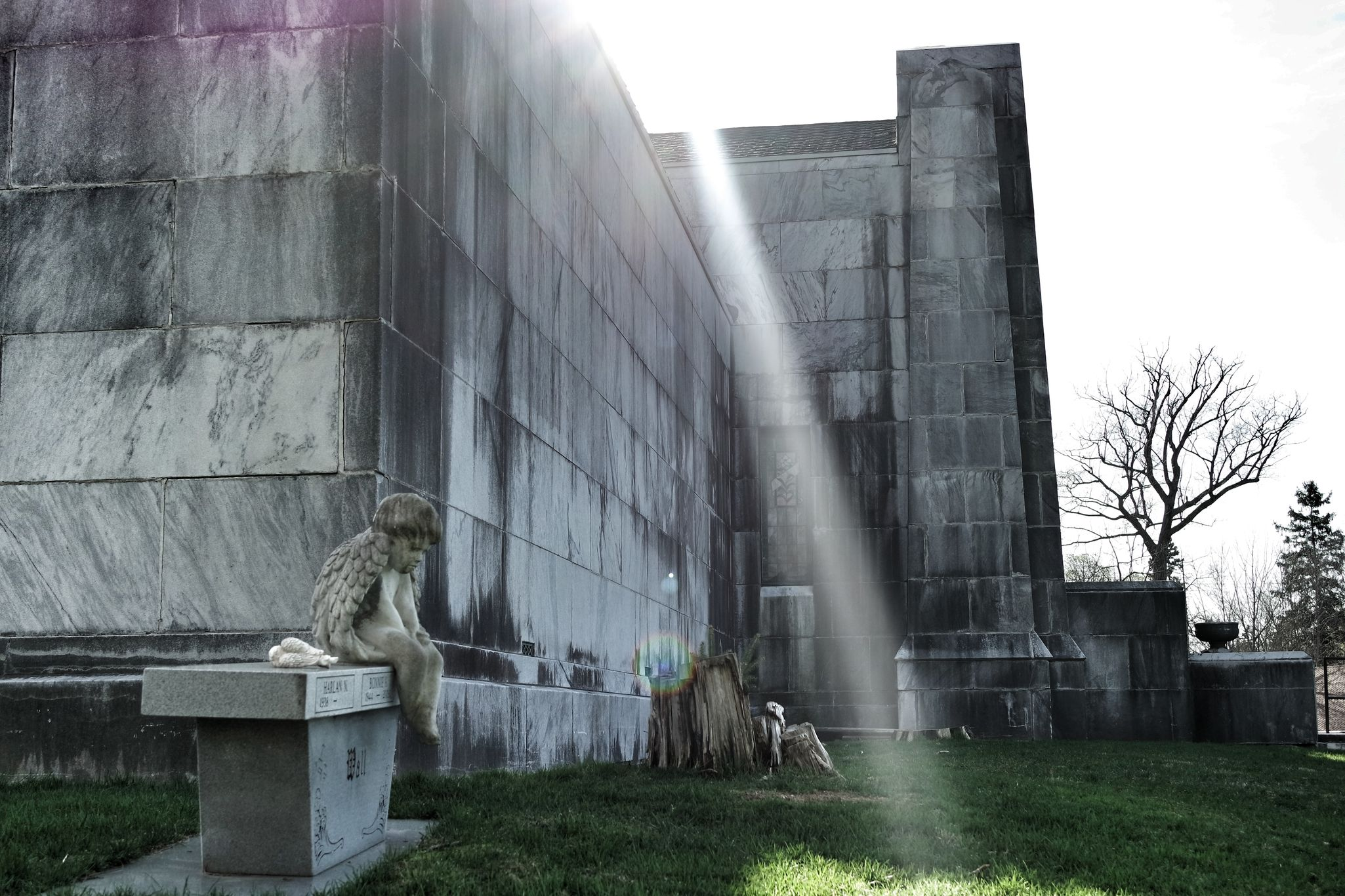 The Secret Spaces Concrete Angel Marbledstone Sunlight And Shadow