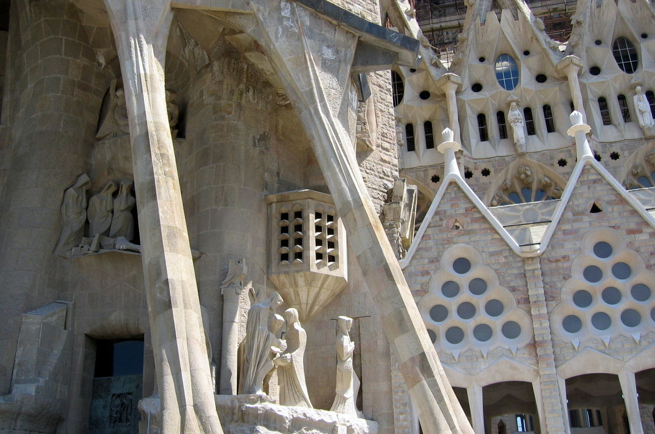 Architecture Barcelona Built Structure Clock Day Gaudi No People Outdoors S