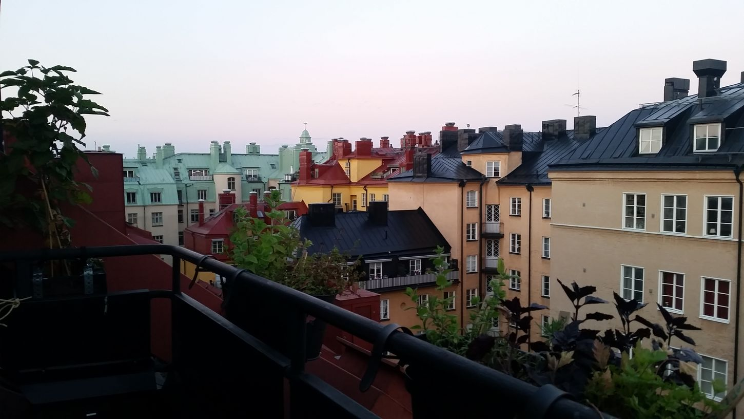View from my roof top @ my place @ Stockholm, Södermalm. Nofilter Swedish Summer Penthouse