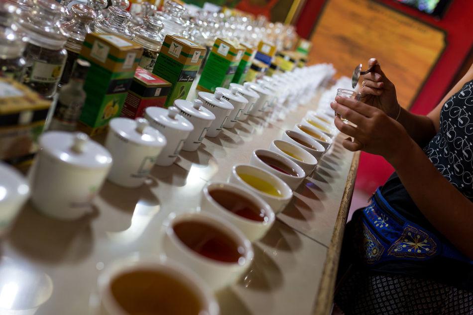 Tea Cupping in Kandy, Sri Lanka Cupping Drink Drinks Ella Human Hand Indoors  Industry Kandy Organic Plantation Quality Sri Lanka Taste Tasting Tasting Room Tasting Tea Tea Tea - Hot Drink Tea Cup Tea Is Healthy Tea Plantation  Tea Time