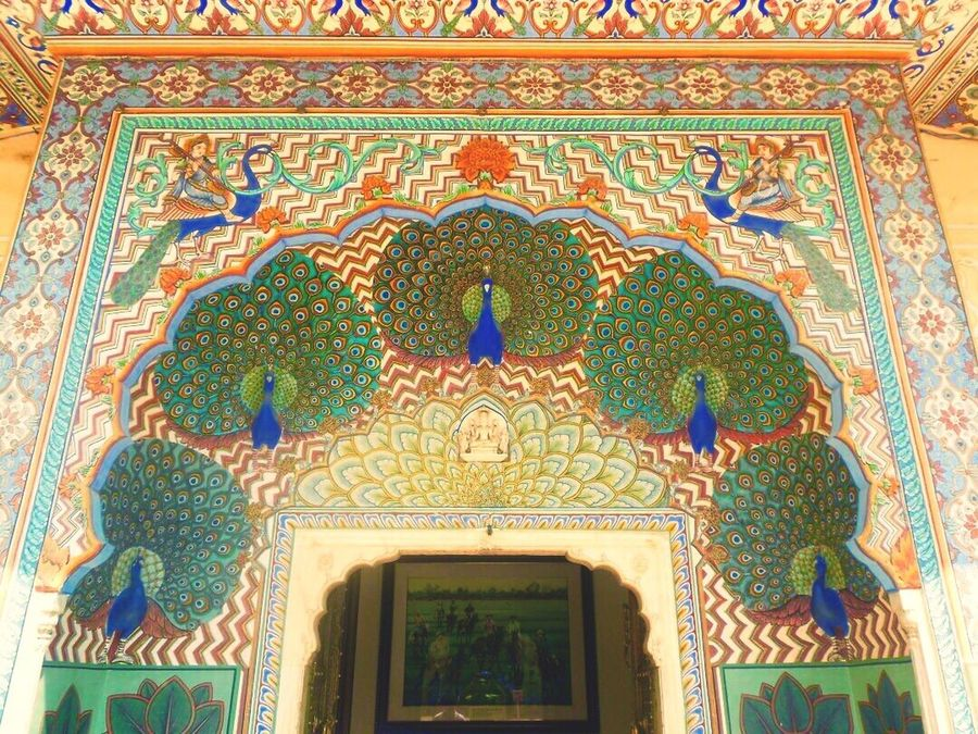 Indianheritage Doorframe Peacock Rajasthan India