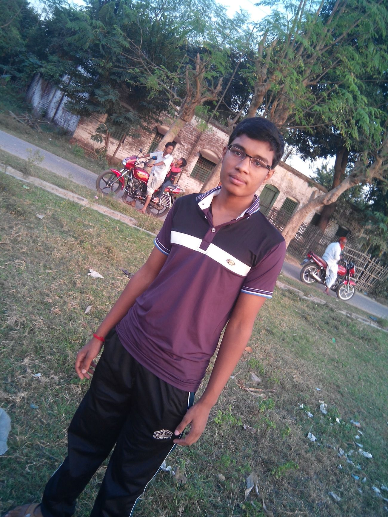 me at darsana bazar field Taking Photos
