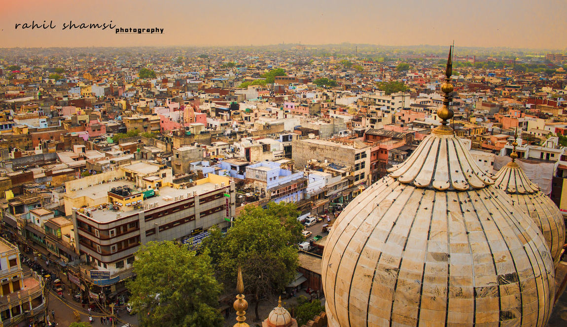 Delhi DelhiGram JamaMasjid Olddelhi Old Delhi Jama Masjid Veiw From The Top Skyline Rahilshamsiphotography