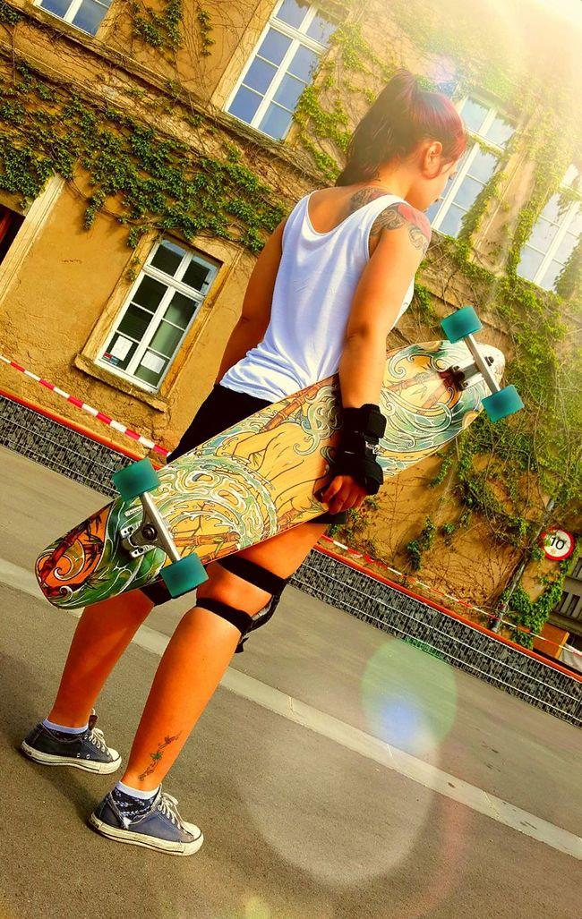 With my baby ❤ Longboard Longboarding Longboard Girl Summer Surfing Longboard <3 First Eyeem Photo