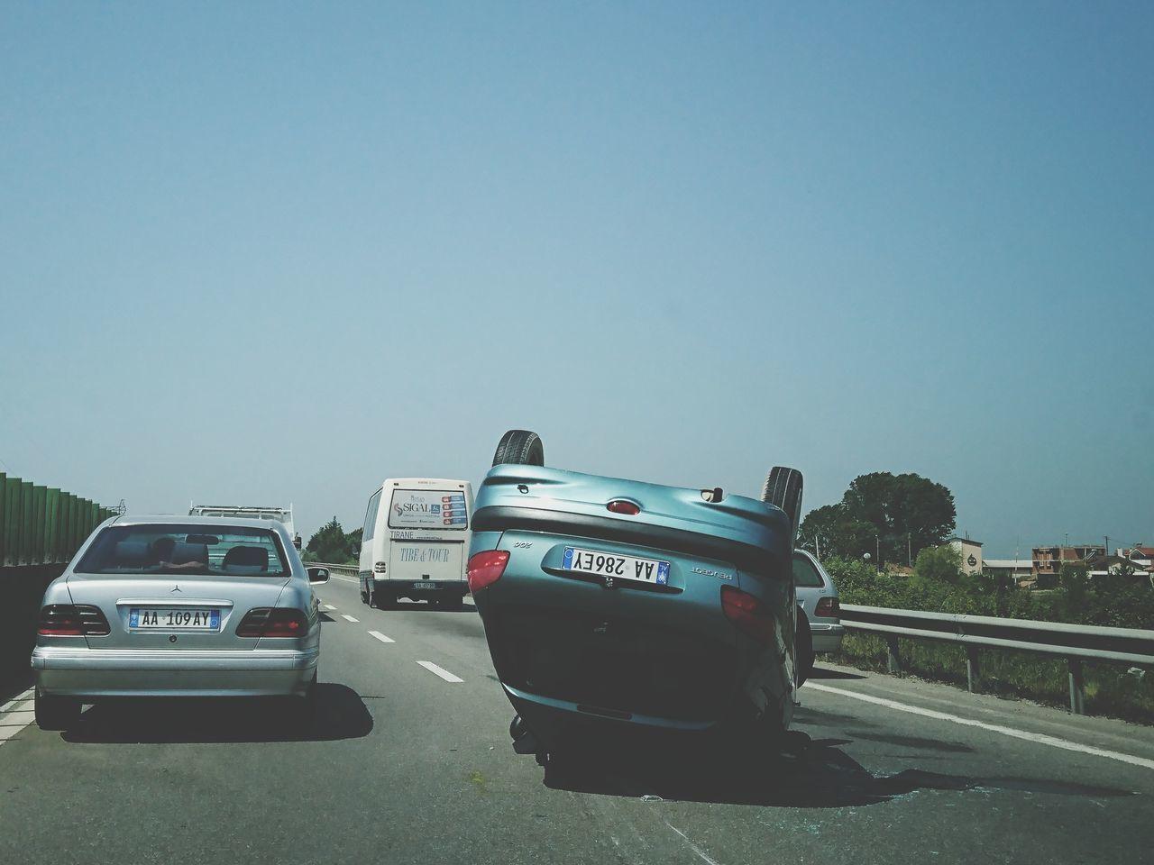 """""""crash"""" a fatal axident in road. Car Crash Road Albania"""