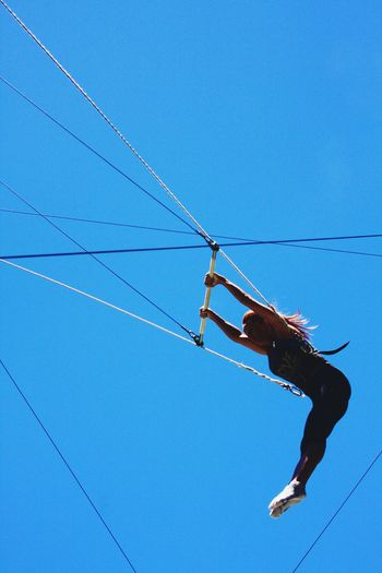 No wings needed ~ Trapeze Flying Trapeze Flying Circus Blue Blue Sky