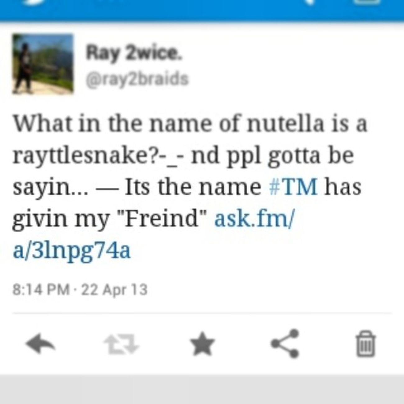 akwardness Twitter Mindless Ray Ray Rayttlesnake