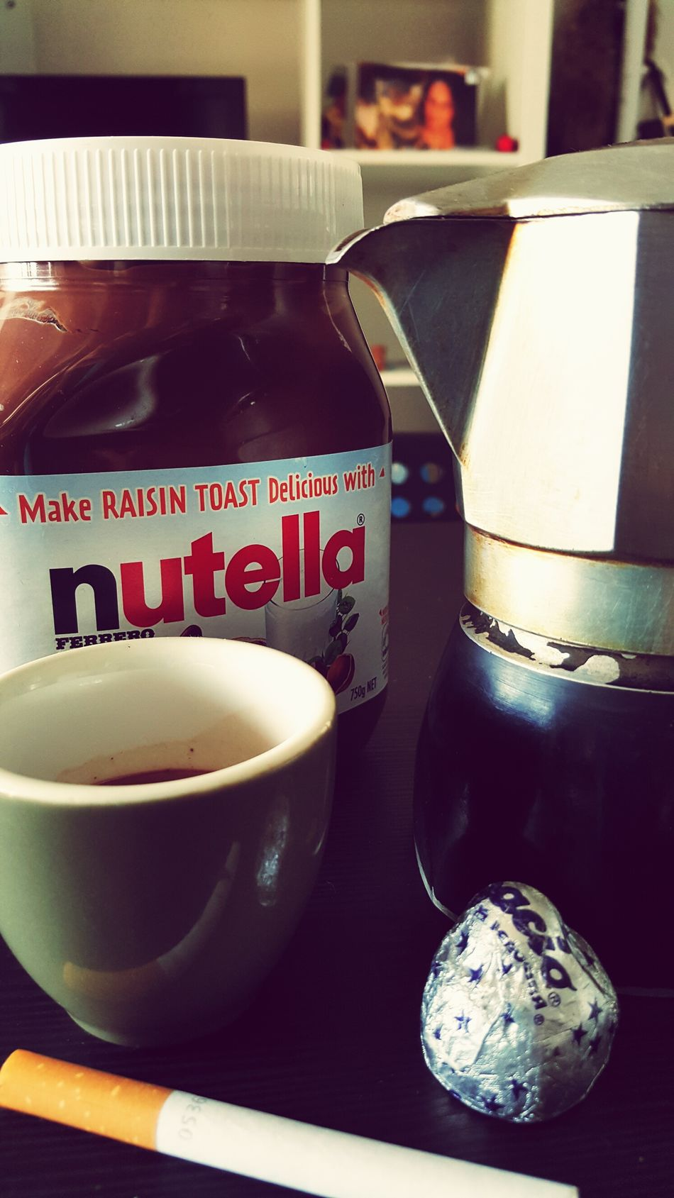 Morning Light Breakfast ♥ Italian Food Home Sweet Home Italianstyle Moka Espresso Coffee Cigarette  Nutella ♥ ImInLove