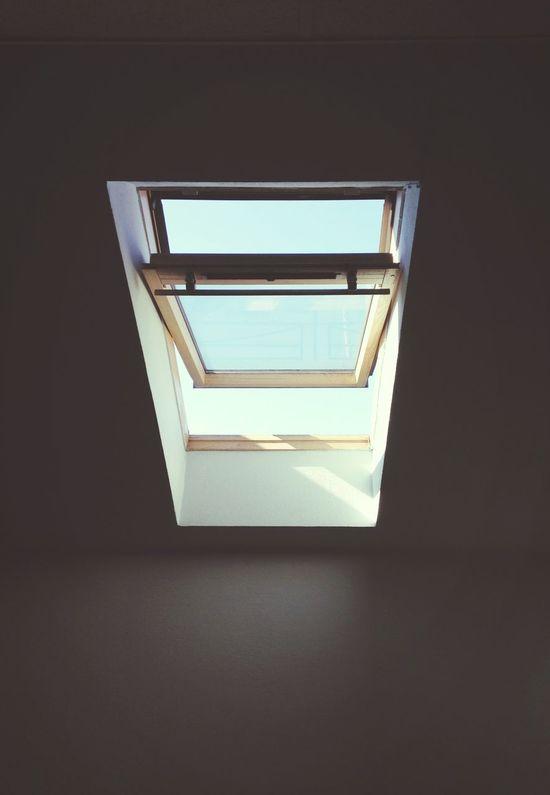 Window Freedom Breaking Through  Sky Blue Sky