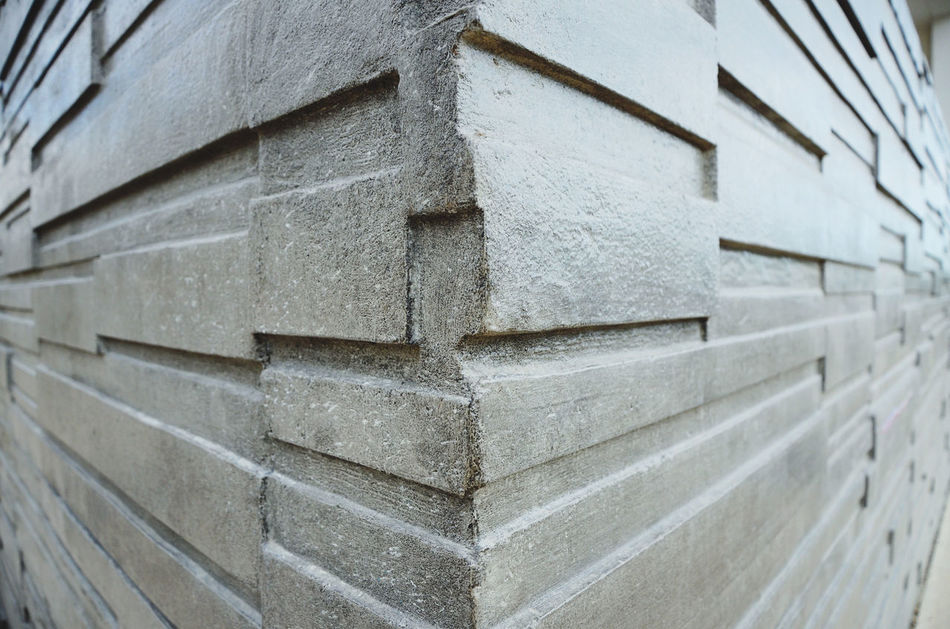 Angle Architecture Built Structure Close-up Day Full Frame Geometric Shape Grey No People Outdoors Pattern Stone Wall Wall Wall - Building Feature