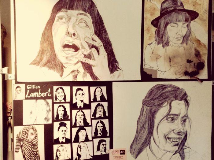 Art Drawing Pen People Contortion Expression Artist Gillian Lambert Art, Drawing, Creativity Portraits
