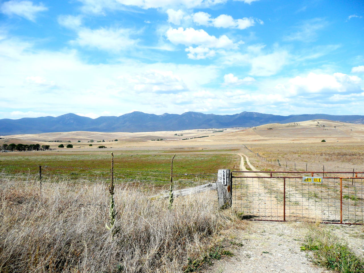 Agriculture Australian Landscape Beauty In Nature Cloud - Sky Day Emptiness Landscape Mountain Mountain Range Nature No People Outdoors Rusty Gate Scenics Sheep And Wheat Country Australia Sky Tranquil Scene Tranquility Vast, Empty Land
