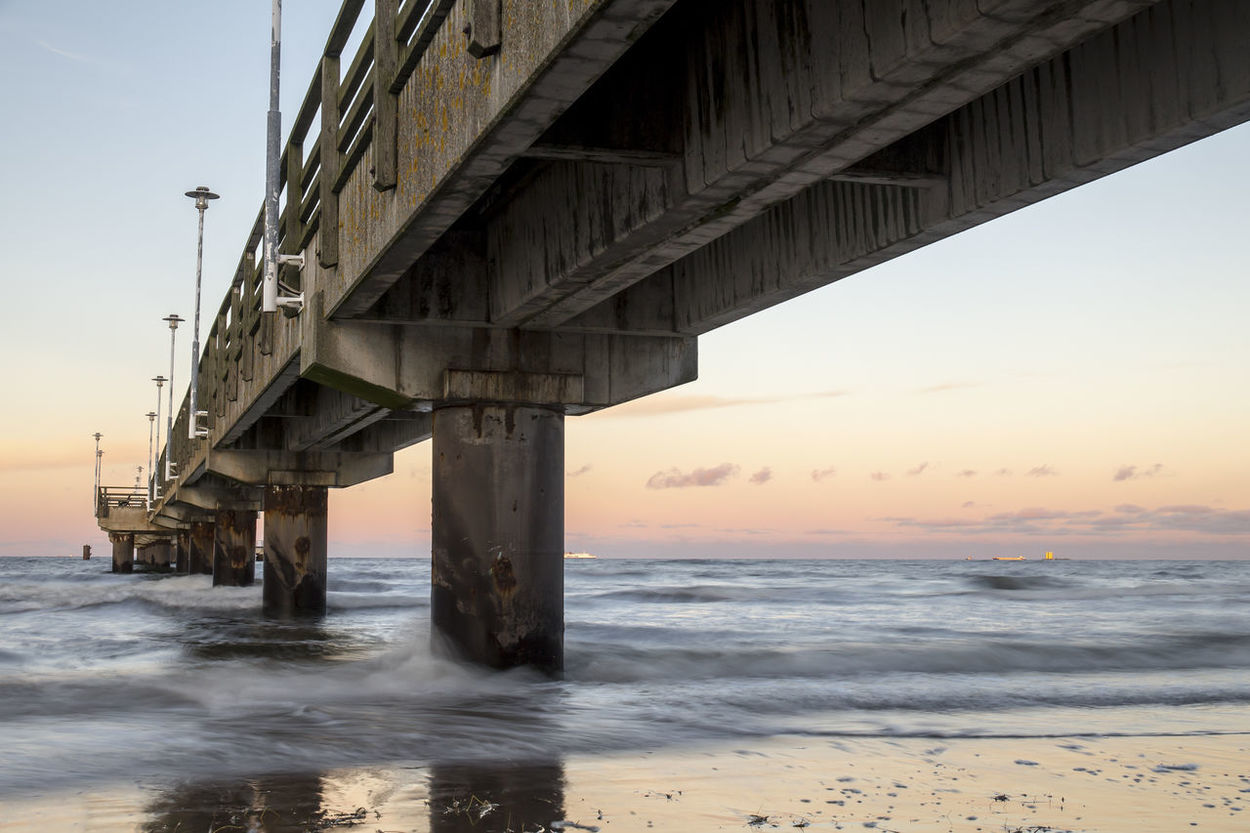 Architecture Baltic Sea Beach Beautiful Beauty In Nature Bridge Built Structure Cloud - Sky Connection Eye4photography  EyeEm Best Shots Holiday Landscape Landscape_Collection Nature Nature_collection Outdoors Reflection Sea Sky Sunset Traveling Underneath Water Waves