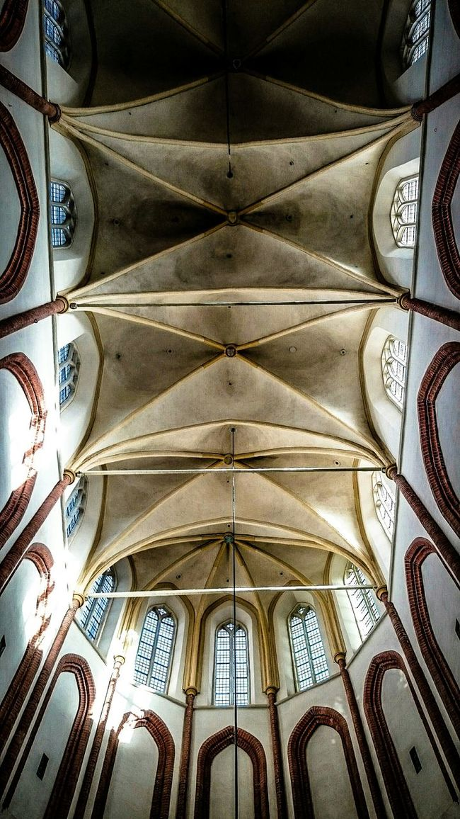 Geometric Shapes, Architecturelovers, Old Church, Middle Ages, Light And Shadow on the Ceiling