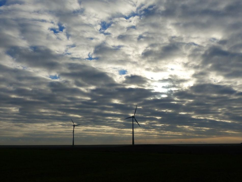 Deich  Clouds Eastfrisia Germany Ostfriesland Environmental Conservation Fuel And Power Generation Alternative Energy Wind Power Wind Turbine Renewable Energy Cloud - Sky Nature Landscape No People Technology Low Angle View Sky Windmill Scenics Environment Sunset Electricity  Silhouette Tranquility