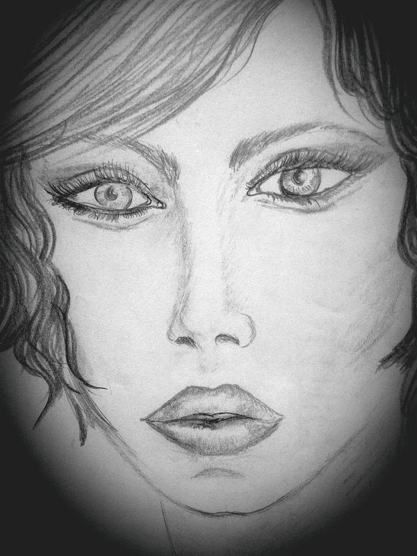 Portrait Crayon Art Disegnoamatita Disegnoamanolibera Matitabiancoenero Relaxing Passatempopreferido