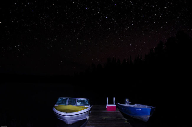 Only way to the cottage Long Exposure Night Sky Astrophotography Stars Canada Coast To Coast Ontario, Canada Nikon D7000 Water_collection Star Collection Nikonphotography Nikon Life Cottage Life