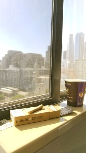 Morningshot MorningHit Perfectmorning Los Angeles, California Window Dirty Window 97Degrees A Pack Of Joint