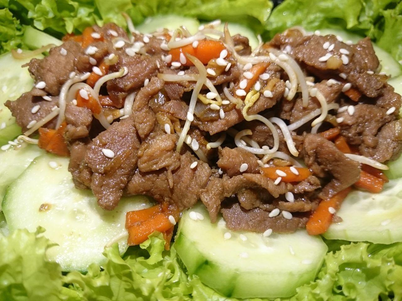 Pork Stir Fried Teriyaki Food Food And Drink Freshness Close-up No People Homemade Vegetables Foodgasm Foodporn Foodie Foodporn Salad Mobilephotography Sony Xperia Z1c Food And Drink Freshness
