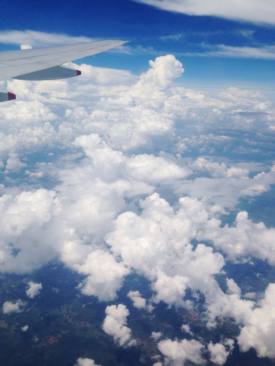 cloud - sky, sky, airplane, beauty in nature, nature, journey, transportation, aerial view, flying, airplane wing, day, no people, scenics, air vehicle, outdoors