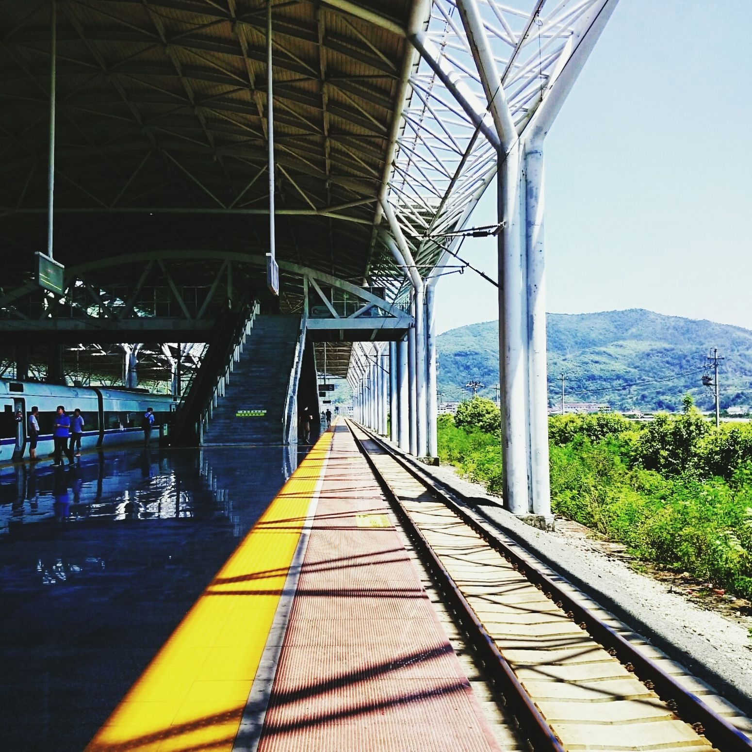 Sound Of Life Railway Station Holiday POV Taking Photos Cityscapes Hello World Sunshine Sunrays Summer 临海