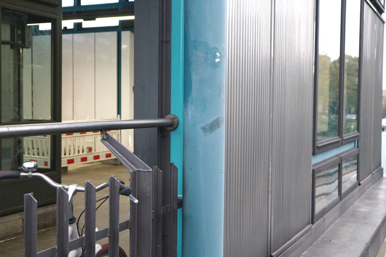 railing, metal, window, gate, train - vehicle, day, no people, indoors
