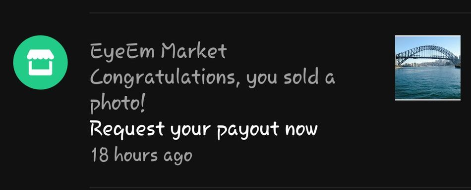 Yay, sold this photo again. Sold $$$ Chaching Happy Thank You Eyeem