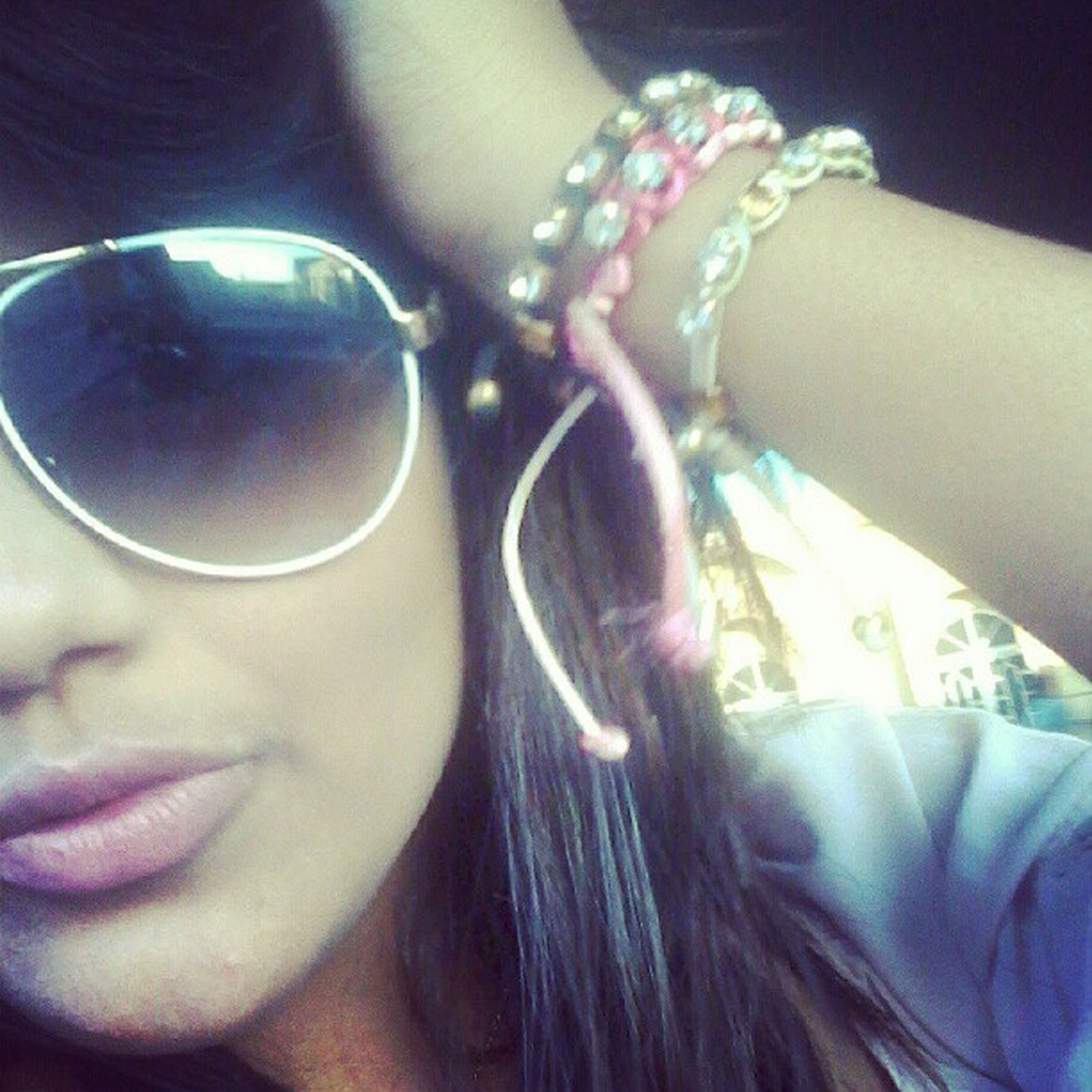 lifestyles, leisure activity, person, headshot, close-up, holding, part of, childhood, indoors, girls, cropped, sunglasses, elementary age, focus on foreground, human face