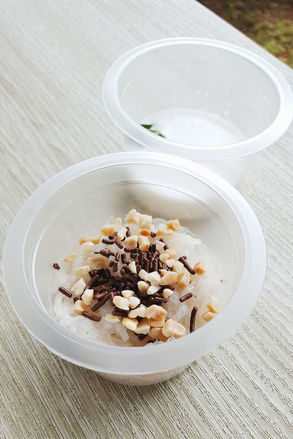 Food Foodie Food Desert Dessert Rice Chocolate Almond Nut Cup Size Takeaway Wooden Table Showcase July