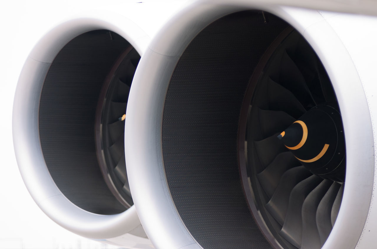 Abstract Aeroplane Airbus A380 Aircraft Aviation Circle Composition Design Geometric Shape Jet Jet Engine Part Of Round Shape Spiral White