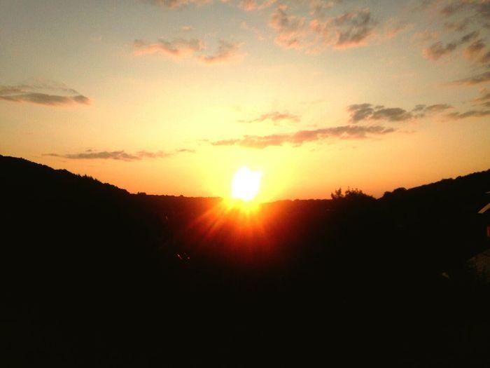 Sunset Beauty In Nature Mountain