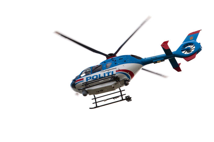Police helicpter Helicopter Air Vehicle Airplane Clear Sky Flying Helicopter Low Angle View No People Outdoors Police Helicopter Politi Politi Helikopter Transportation White Background