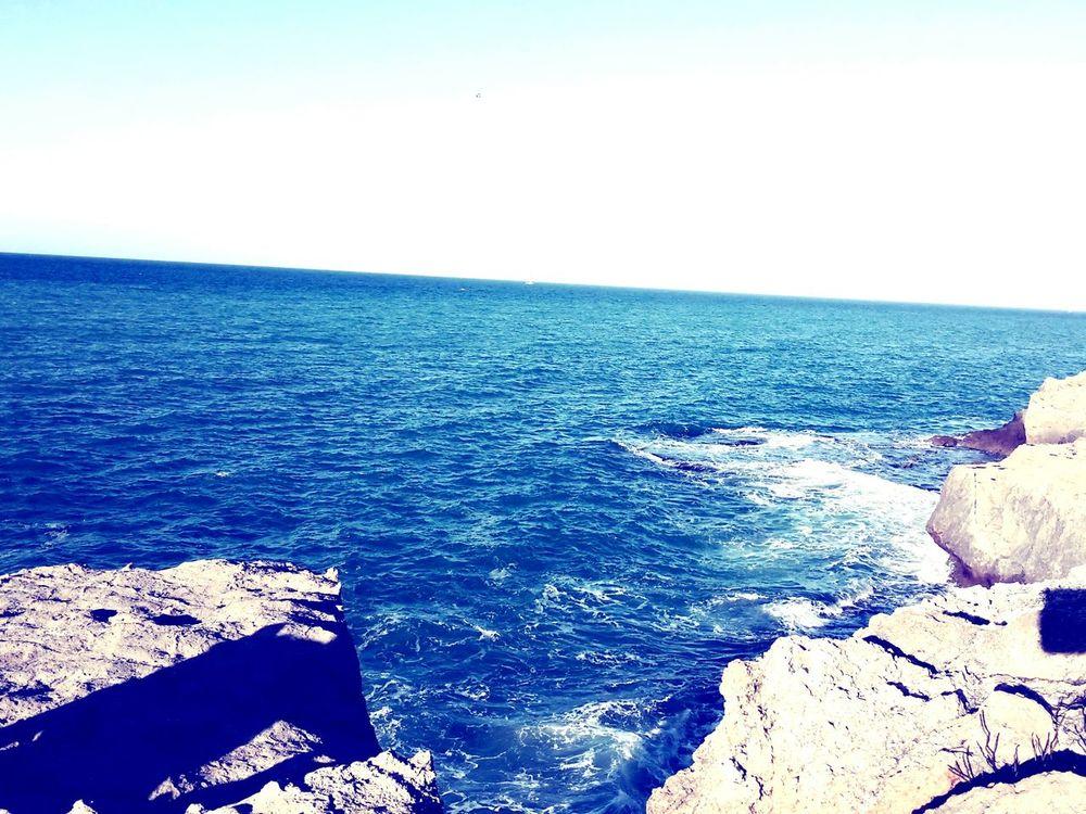 Sea And Sky Mare Cielo Azzurro Sicilia Palermo Photography Photo First Eyeem Photo