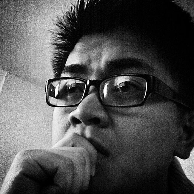 Selfie cause why not? Glasses Blackandwhite Itsthursday Xo