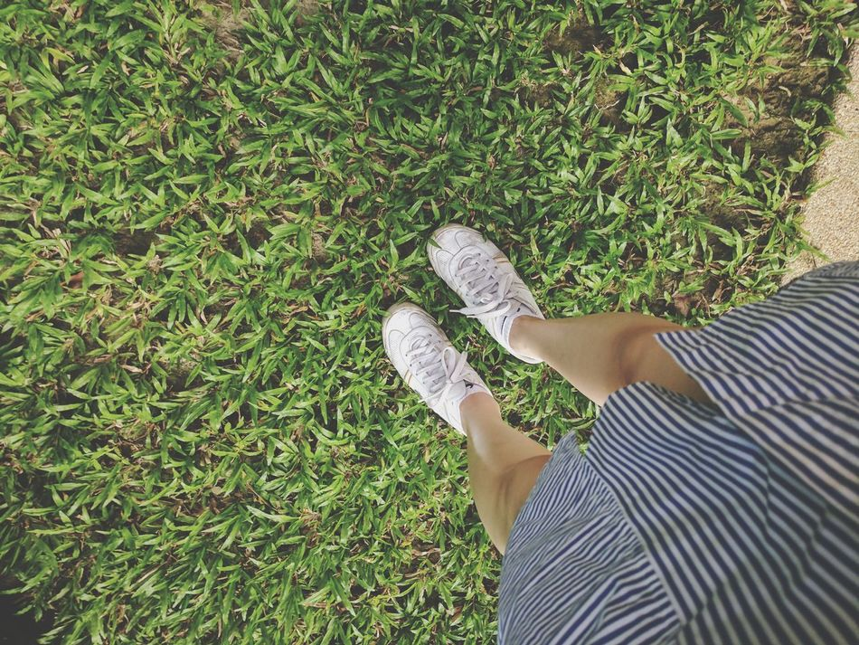 ๓๙ 🌿 SundayFunday Outdoors Greenery Grassy Old Shoes