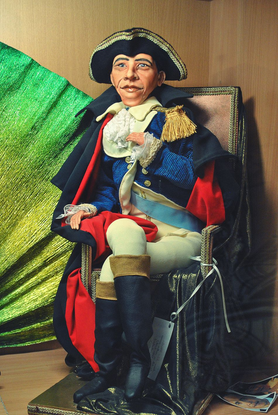 One Person Period Costume King - Royal Person Adult People Mature Adult President Obama Doll Puppet Indoors