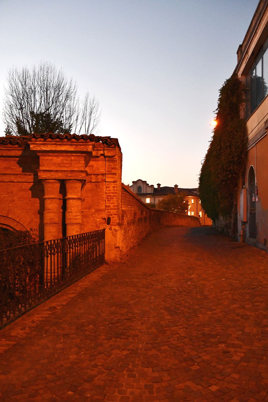 At Sunset Village Street In The Street Langhe Tranquility Silence Architecture Travel Destinations Building Exterior Outdoors Built Structure No People Red Vacations