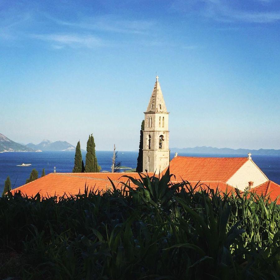 Franziskanisches Kloster Cloister Architecture Orebic Croatia ♡ Croatia Outdoor Photography Enjoying Life Summer Great Outdoors Traveling Vacation Croatiawithlove House Adriatic Sea Landscape
