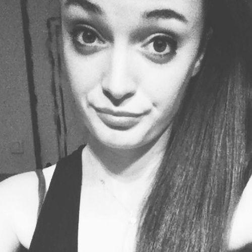 Black & White Smile Girl Selfie