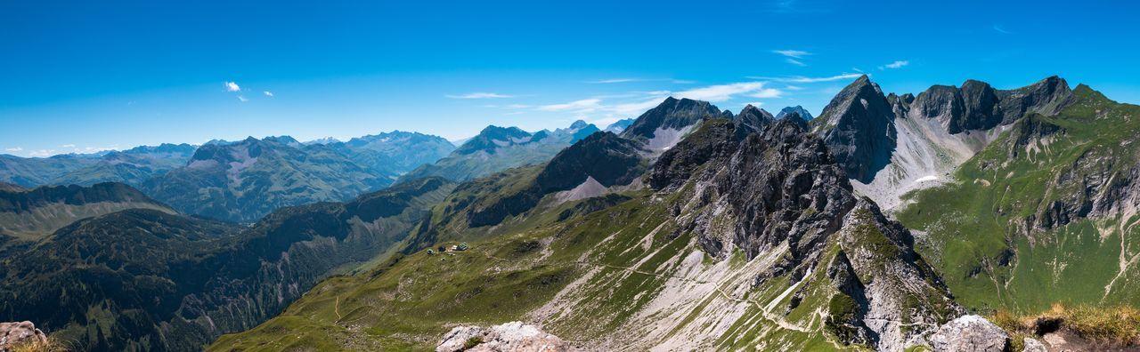 Alps Austria Awesome_view Hiking Kleinwalsertal Mindelheimer Hütte Mountains Panoramic Summer Sunny Day View