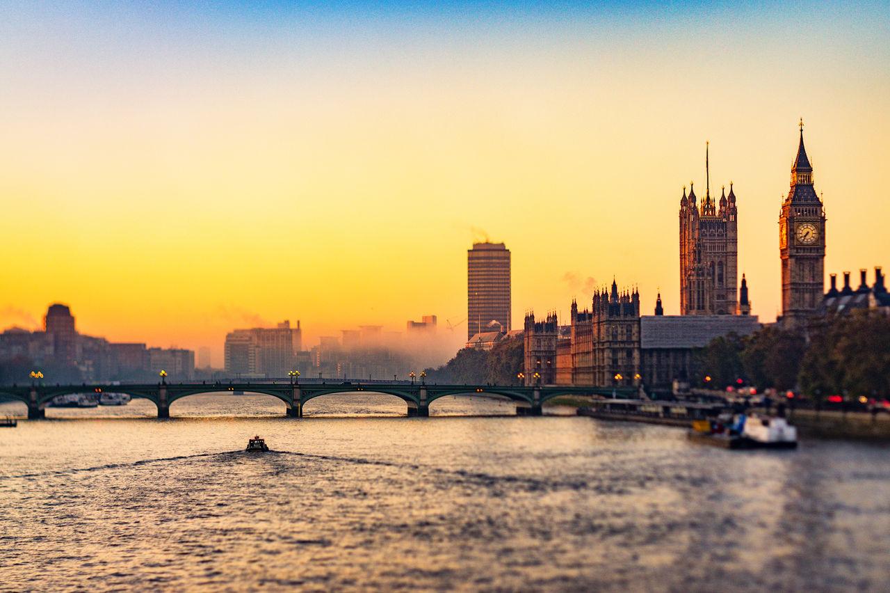 Big Ben Big Ben, London London Thames River Tiltshift Twilight Westminster Westminster Bridge