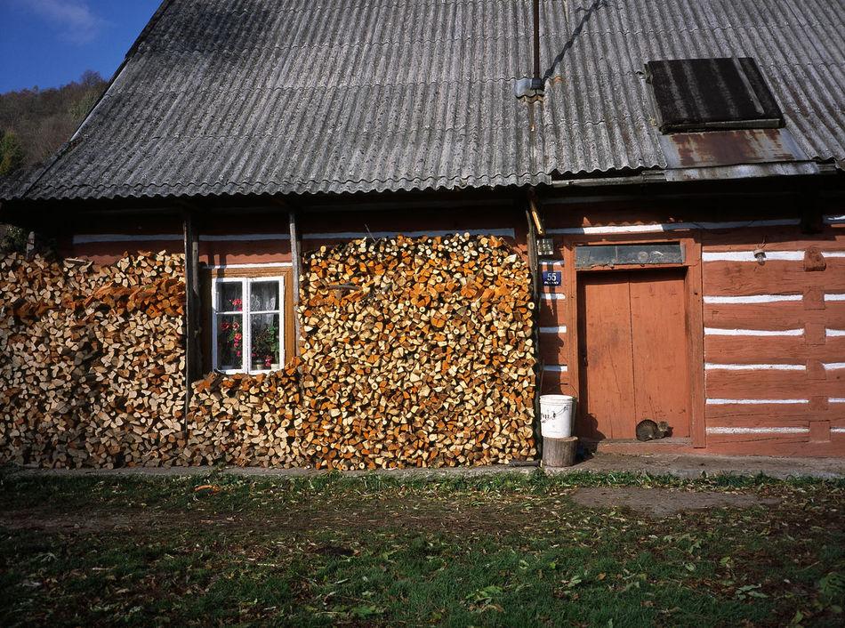 Beskid Beskid Niski Beskidy Cat Cats Day Firewood Hut Huts Niski No People Outdoors Window