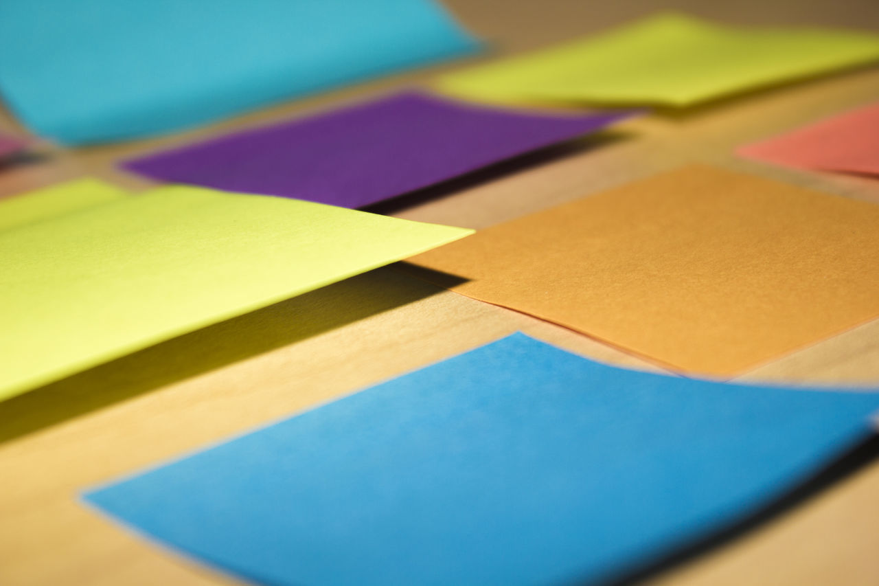 Keeping life organized with sticky notes. Bright Office Paper Sticky Note Sticky Notes Todolist