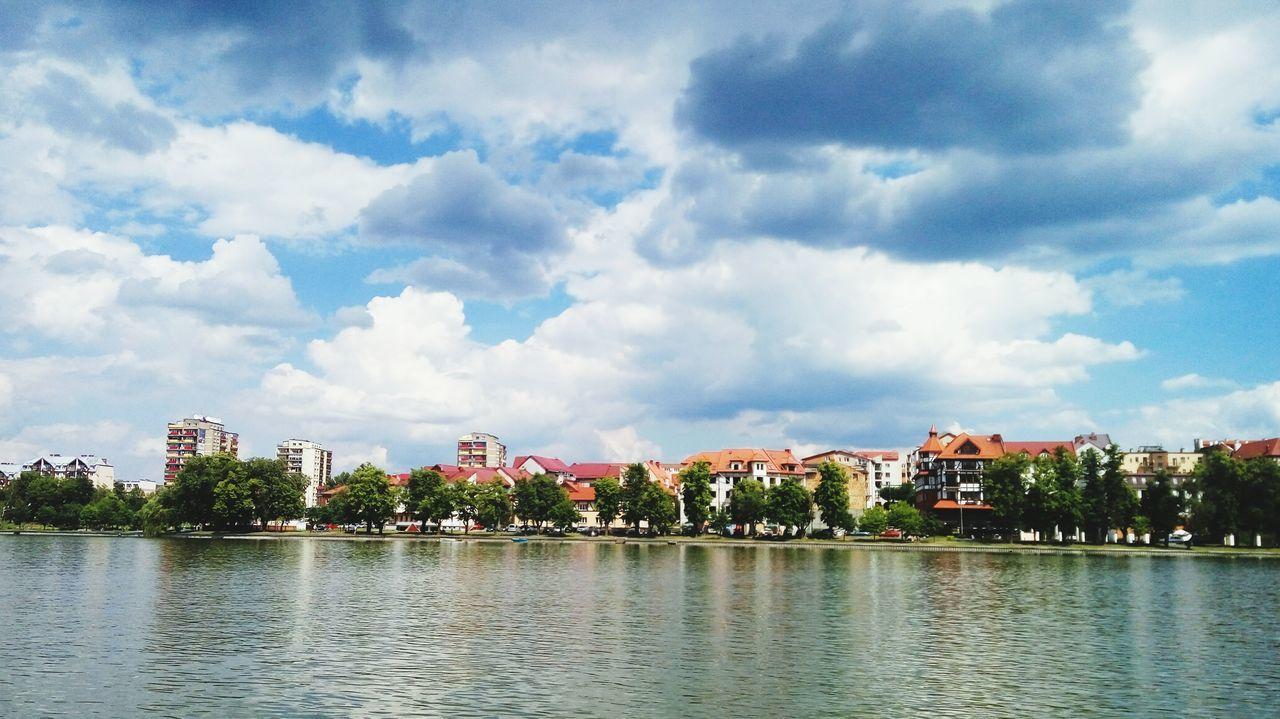 Piękny Ełk w piękny dzień Ełk Jezioro Ełckie Miasto